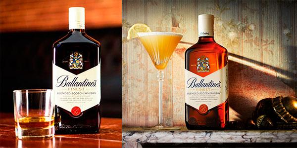 Whisky Ballantine's de 700 ml en caja metálica barato