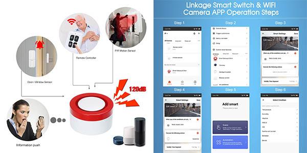 alarma doméstica con aplicación móvil WiFi Owsoo oferta