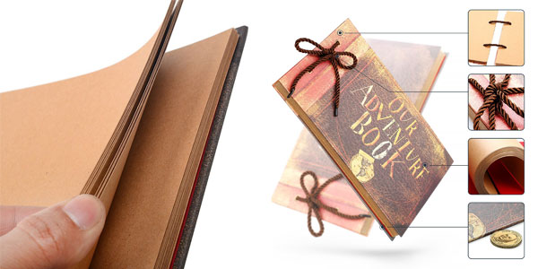 Álbum de fotos DIY 40 páginas + set papelería chollo en Amazon