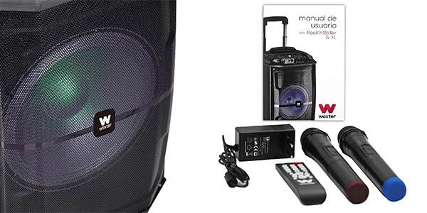 altavoz portátil con karaoke sonido de calidad chollo