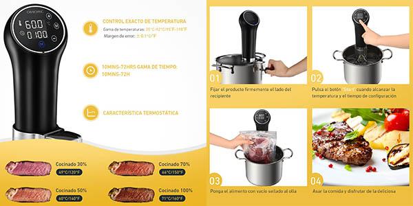 aparato de cocción sous vide para alimentos al vacío oferta