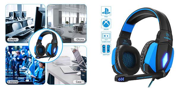 auriculares gaming Yinsan con micrófono baratos