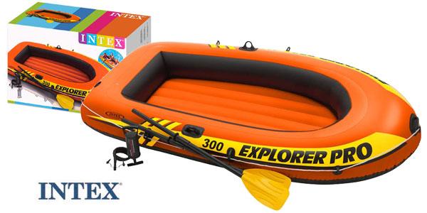 Barca Hinchable Intex Explorer Pro 300 con remos e hinchador barata en Amazon