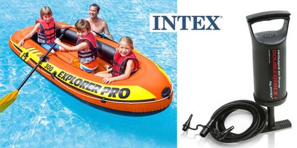 Barca Hinchable Intex Explorer Pro 300 con remos e hinchador chollo en Amazon