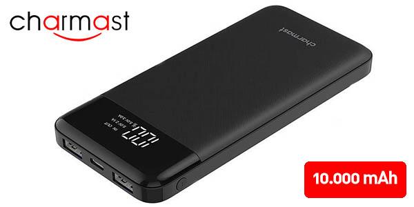 Batería Externa Charmast 10.000 mAh con 3 puertos USB