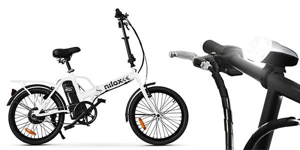 bicicleta plegable con batería eléctrica Nilox X1 relación calidad-precio estupenda
