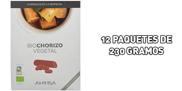 Pack 12 x Biochorizo vegetal Ahimsa de 230 gr