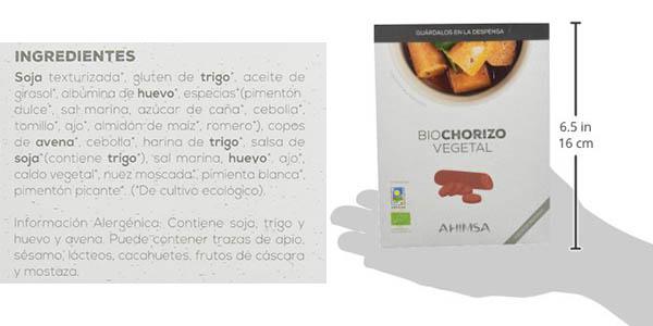 Pack 12 x Biochorizo vegetal Ahimsa de 230 gr barato