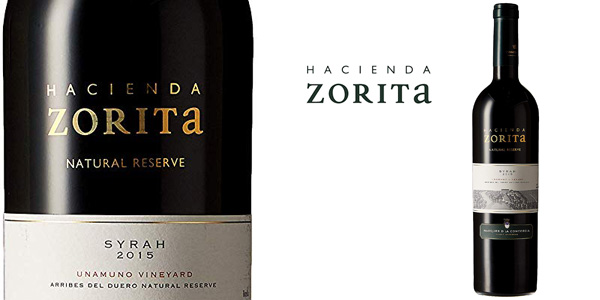 Botella Vino Tinto Hacienda Zorita Natural Reserve Syrah de 750 ml barato en Amazon