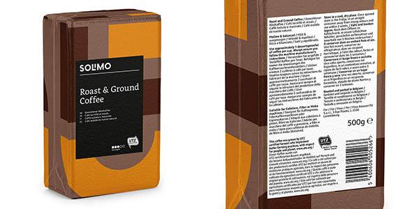café molido tostado Amazon Solimo oferta