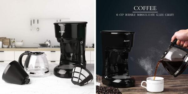 Cafetera eléctrica de goteo Barsetto de 600 W chollazo en Amazon