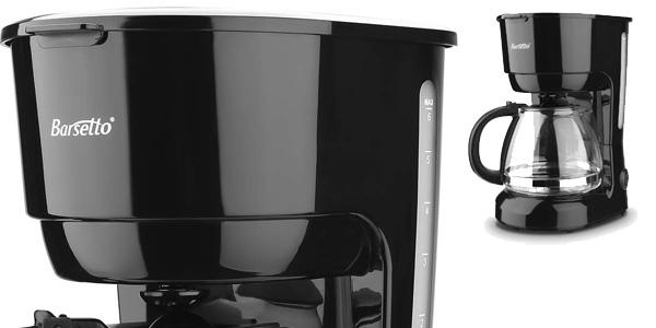 Cafetera eléctrica de goteo Barsetto de 600 W barata en Amazon