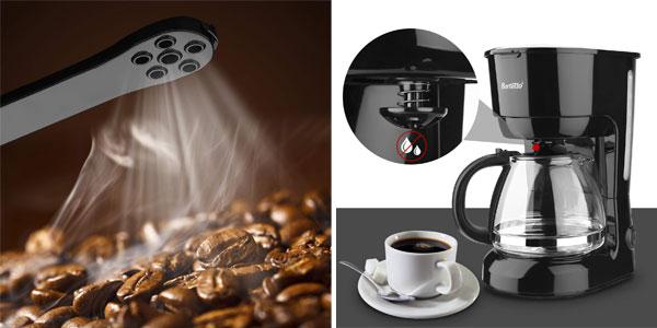 Cafetera eléctrica de goteo Barsetto de 600 W chollo en Amazon