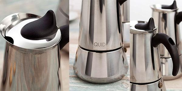 Cafetera Quid Génova de acero inoxidable con 9 tazas barata