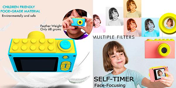 Cámara de fotos ShinePick infantil con 8 MP y zoom digital 4X barata