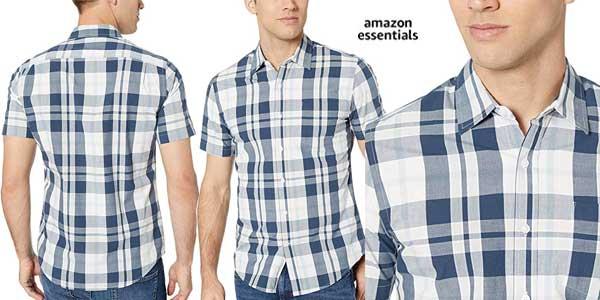 Camisa de manga corta Amazon Essentials Slim-fit barata en Amazon