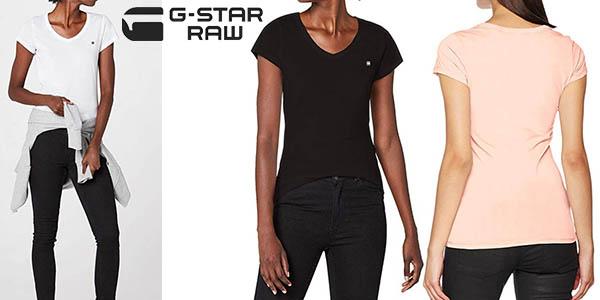 camiseta G-Star Raw Eyben Slim V T Wmn S/S barata