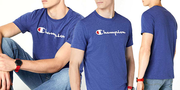 Camiseta manga corta Champion Crewneck T-Shirt para hombre chollo en Amazon