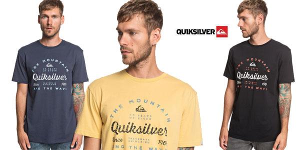 Camiseta manga corta Quiksilver In Drop para hombre chollo en Amazon