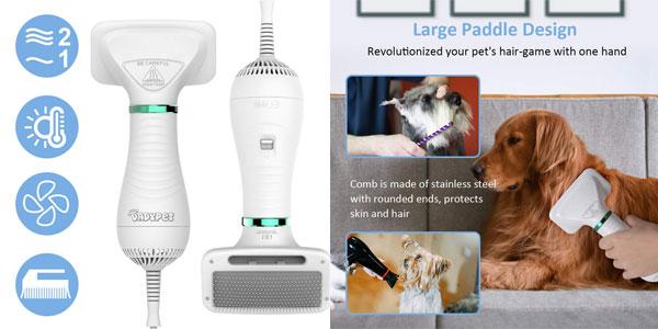 Comprar DADYPET Cepillo-secador para Perros y Gatos chollo en Amazon