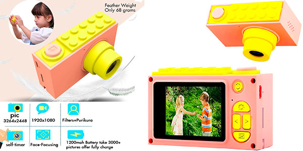 Chollo Cámara de fotos ShinePick infantil con 8 MP y zoom digital 4X