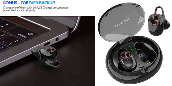 Chollo Mini auriculares Minluk Bluetooth 5.0 con cancelación de ruido
