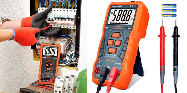 Chollo Multímetro digital automático Lomvum T21E