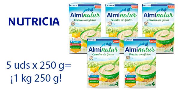 Chollo Pack Papilla de cereales Alminatur sin gluten de 250 gramos