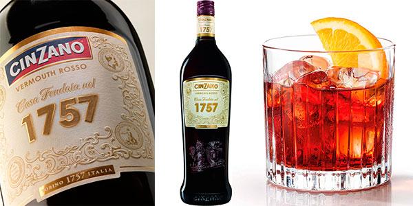 Chollo Vermú Cinzano Rosso 1757 premium de 1.000 ml