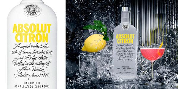 Chollo Vodka Absolut Citron de 700 ml