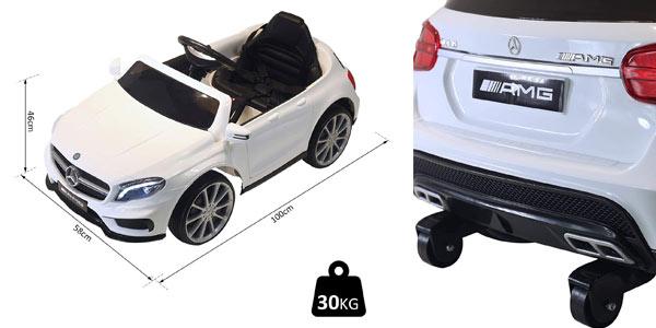Coche eléctrico infantil Homcom Mercedes Benz Gla en oferta en Amazon