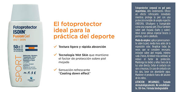 crema solar ISDIN Fotoprotector 50 textura líquida oferta