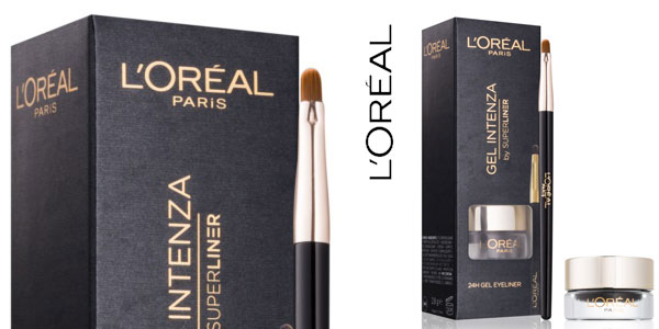 Delineador en gel con pincel L'Oréal Paris Superliner Gel Intenza color negro barato en Amazon