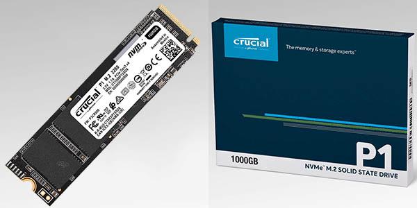 Disco SSD interno Crucial P1 NVMe PCIe