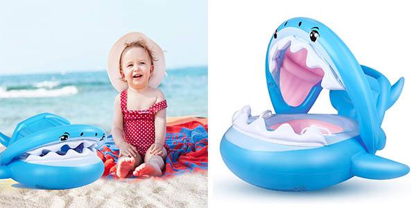 flotador para bebés Flyboo forma tiburón oferta