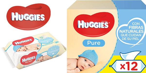 Pack de toallitas para bebé Huggies Pure baratas en Amazon