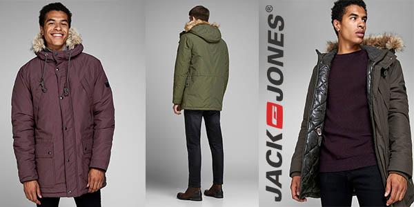 Jack & Jones parka con capucha y pelo sintético barata