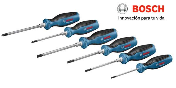 Juego de 6 destornilladores Bosch Professional barato en Amazon