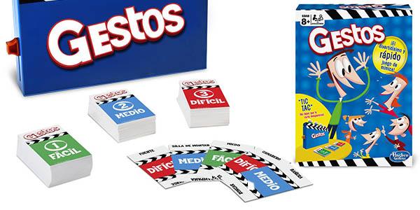 juego de mesa en familia Gestos Hasbro con cartas para hacer mímica chollo