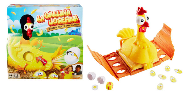 Juego de mesa La Gallina Josefina de Mattel barato en Amazon
