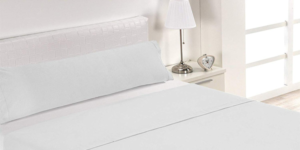Juego de sábanas de tres piezas SABANALIA JS-Hosteleria en color blanco baratas en Amazon