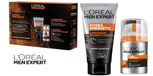 Cofre L'Oréal Men Expert HydraEnergetic Crema y Limpiador para hombre chollo en Amazon