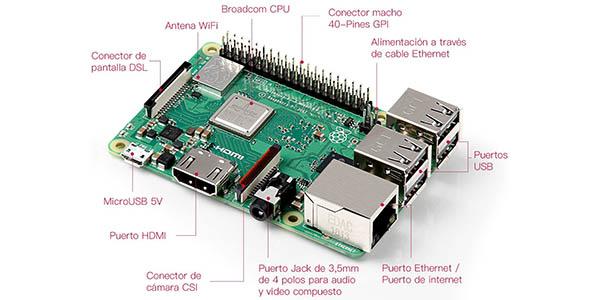 Kit Raspberry Pi 3 Modelo B+ con carcasa y SD de 32 GB