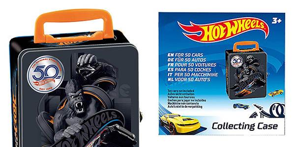 maletín para coches Hot Wheels con asa de transporte oferta