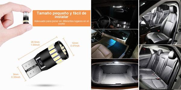 Pack 10 bombillas T10 LED Canbus Anpro para coche chollo en Amazon