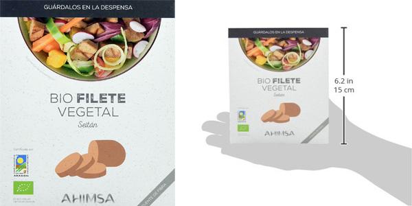 Pack x12 Bio Filete Vegetal de Seitán Ahimsa de 230 gr/ud chollo en Amazon