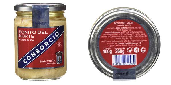 PAck x12 tarros Bonito del Norte en aceite de oliva Consorcio en oferta en Amazon