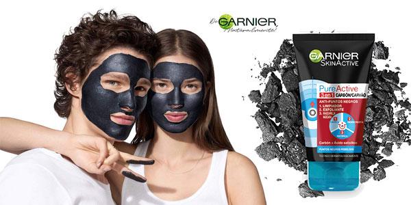 Pack x2 Gel limpiador y exfoliante facial 3 en 1 Garnier Skin Active Pure Active con carbón chollo en Amazon