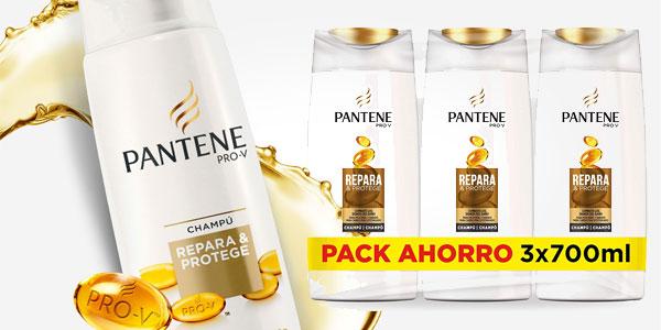 Pack x3 Champú Pantene Pro-V Repara & Protege de 700 ml/ud barato en Amazon