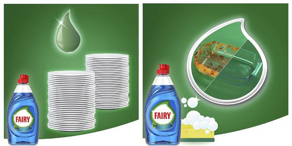 Pack x4 Fairy extra higiene eucalipto lavavajillas a mano concentrado botella de 1015 ml chollo en Amazon